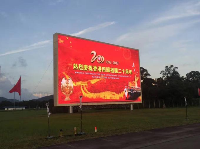 Aluminum Outdoor Led Video Screen , Meanwell Power Outdoor Led Display Screen IP65