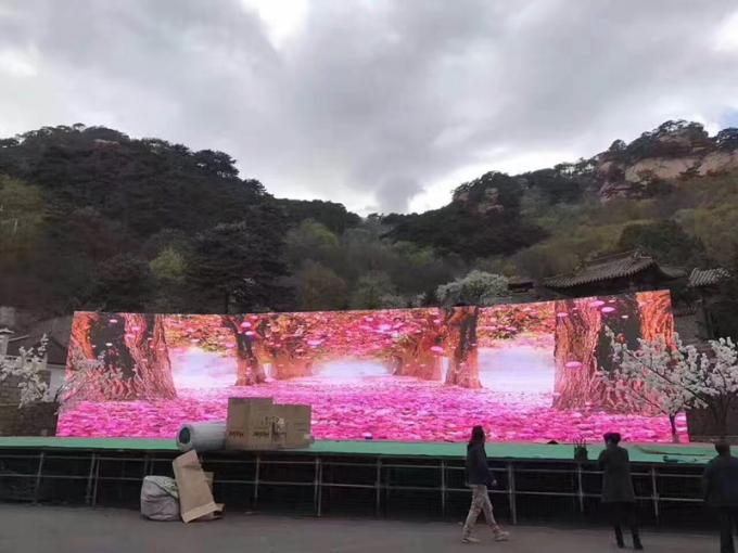 SMD1921 Black Face Outdoor Led Screen Hire , High Contrast Led