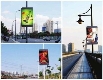 China Outside SMD Cloud Cluster Led Pole Screen Video Advertising Light Box P5 supplier