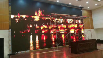China Black face SMD2020 Led Video Screen Rental 500 * 500 MM Front Access supplier