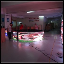 China Curved Billboard Advertising LED Display Screen , 6500 Nits Full Color Video Wall supplier