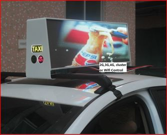 China 12V Digital Billboard Taxi Led Screen , Acrylic cover Aluminum Frame Small Led Display distributor