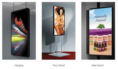 China Portable Digital Led Poster Screen , Advertising IP31 Slim Light Weight Box distributor