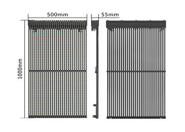 6500nits 10KG Outdoor Fixed Led Curtain Display Video Mesh Background No Air Conditioner